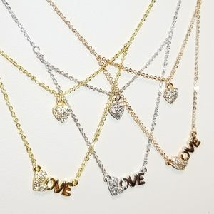 Jewelry - Dainty Layered Love Heart Necklace NEW